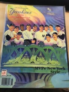 1986 New York Yankees Yearbook -MVP's- Ruth, Gehrig, DiMaggio, Mantle, Mattingly