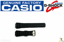 CASIO G-Shock DW-5600C-1V Original Black Rubber Watch BAND Strap Gold Buckle