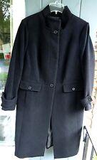 Talbots Black Wool-Blend & Angora Stand Collar Long Dressy Coat 14W Winter $349