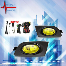 Winjet 2001-2003 Honda Civic Coupe/Sedan Fog Light Kit Pair Set LH RH - Yellow