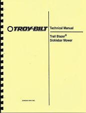 Troy-Bilt Trail Blazer Sickle Bar Mower Technical Manual