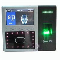 ZKsoftware iFace302 biometric identification time attendance face reader Finger