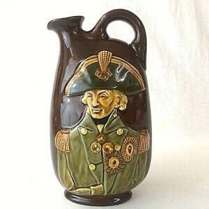 Royal Doulton  Kingsware Dewar's Whiskey Decanter Flask Lord Nelson Vintage 1935