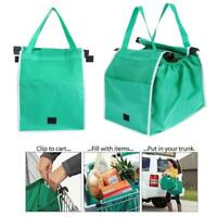 Foldable Shopping Bags Reusable Eco Grocery Cart Trolley Carrier Handle Bag AU