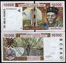 WEST AFRICAN STATES NIGER 10000 FRANCS P614H 1995 BIRD ART UNC AFRICA BANK NOTE