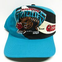 Vintage 90s Vancouver Grizzlies Snapback Hat Cap Canvas Embroidered TWINS Logo