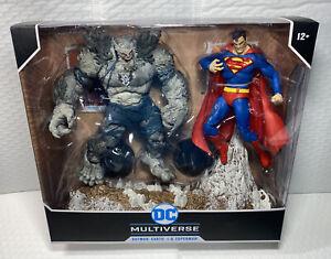 DC Multiverse McFarlane Batman The DEVASTATOR Vs. SUPERMAN Figures IN HAND!