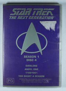 Star Trek The Next Generation Season 1 Disc 4 DVD FREE POST