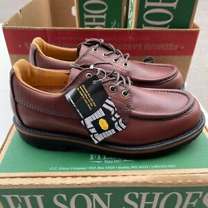 Filson Uplander Oxford Brown Leather Moc Toe Leather Shoes Mens 8.5 D 51101