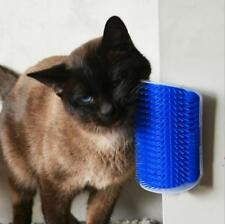 Wall Mount Cat Brush Self Groomer Massage Comb Catnip Pet Hair Shedding Dog Tool