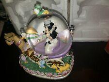 """Disney Just Married Snow Globe """"Wedding March"""" Mickey Minnie Goofy Donald Huey"""
