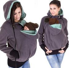 Mom Kangaroo Baby Carrier Hoodie Jacket  Casual Outerwear Pregnant Babywearing