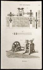1852 - Engraving Arts Machine Heads Monnaie (2) .Science, Numismatic