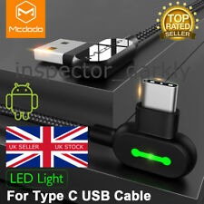 MCDODO 0.5M L-Shaped LED USB-C to USB Fast Charge Data Cable For Android
