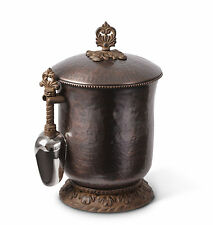 The GG Collection Antique Copper Finish Hammered Metal Ice Bucket & Scoop
