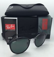 New RAY-BAN Tech Series Sunglasses RB 4242 601/71 49-21 Black Frame w/Green Lens
