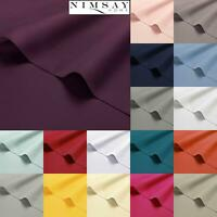 Luxury 200TC 100% Egyptian Cotton Flat Top Bed Sheet Single Double Super King