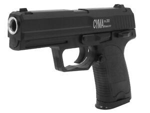 Gun Softair Pistole Airgun ZM20 Vollmetall Black mit Munition - 14cm