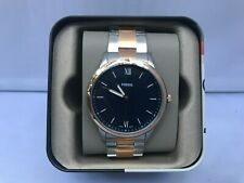 FOSSIL Watch Men's FS5498 The Minimalist Rose Gold-Silver Tone Stainless Steel
