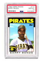 Barry Bonds 1986 Topps Traded #11T RC Rookie Card - PSA 10 GEM MINT (New Label)