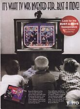 Vintage 1994 Super Nintendo TAITO BUST-A-MOVE video game print ad page