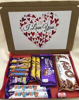 Personalised I Love You Chocolates Hamper Box Gift Present Him Her Anniversary💕