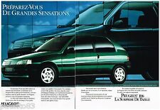 PUBLICITE ADVERTISING 095  1991  PEUGEOT  la 106  (2 pages)