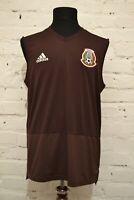 adidas Mexico Men's L Training Sleevesless Soccer Jersey Football Shirt 2018/19