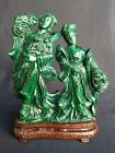 Antique Chinese Malachite Sculpture Carving
