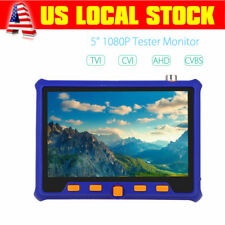 "5"" 1080P HD 4in1 TVI CVI AHD VGA CVBS Tester Monitor Security Camera Test PTZ"