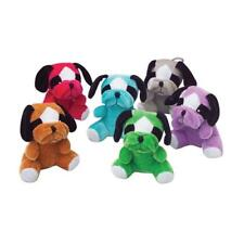 12 - Assorted Color Plush Multicolor Bull Dogs 5.5""