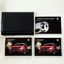 VAUXHALL ASTRA OWNERS MANUAL HANDBOOK PACK + NEW BLANK SERVICE BOOK from 2016