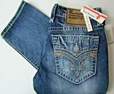 NWT Rock Revival Men's 36x34 Blue Jeans Buckle Denim Designer NEW Kyson Straight