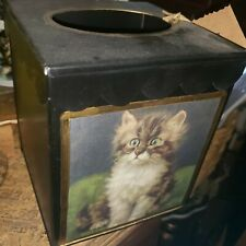 Kitten designer tissue box cover
