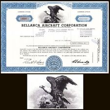 Bellanca Aircraft Corporation 1981 Stock Certificate