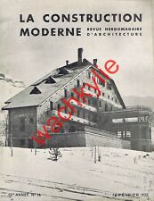 La construction moderne 14/02/1937 Villard-de-Lans  Bel-Air Métropole Lausanne