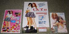 TATU t.A.T.u. Japan PROMO handbill / flyer / postcard x 3 SET mini poster