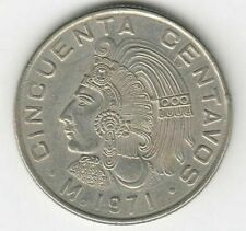 MEXICAN Aztec emperer  Cuauhtémoc coin F HERO OF THE INDIANS
