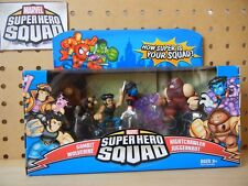 Marvel Super Hero Squad X-MEN UNITE: JUGGERNAUT ATTACKS 4-PK Gambit Nightcrawler