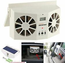 Ivory Solar Dual Fan Car Front/Rear Window Air Vent Cool Cooler Fan Summer Gift