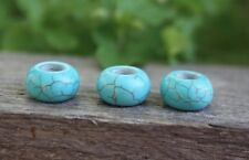 5 Blue Ceramic Dreadlock Beads 5/6mm Hole (7/32 Inch) Dread Hair Beads