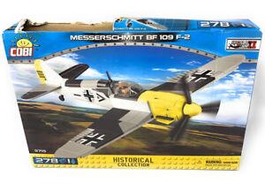 COBI 5715 WWII Germany Messerschmitt BF 109 F-2 Fighter Plane 278 pcs Box Damage
