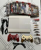 SONY PLAYSTATION 3 SUPER SLIM 500GB WHITE CONSOLE Bundle with games/controllers