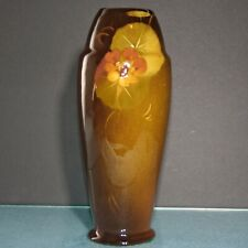 New listing Weller Louwelsa Art Glaze Lamp Base 10.25 inches early 1900's Floral painting