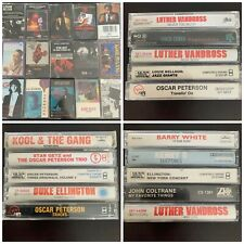 Jazz/Blues Cassette Lot Duke Ellington Luther Vandross Kenny G John Coltrane