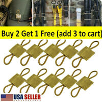 10Pcs Tactical Molle Retainers Webbing Communication Cable Outdoor Ptt Retainers