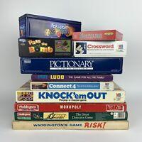 Vintage Board Games Bundle Family Classics 100% Complete Monopoly Cluedo+ More