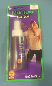 RUBIES BRAND THEATRICAL FAKE BLOOD SPRAY WATER WASHABLE 2 FL OZ - NEW IN PKG