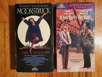 (Lot2) Moonstruck 89 When Harry Met Sally 87 VHS HTF OOP Original Rare Comedy