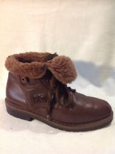 Roland Cartier Brown Ankle Leather Boots Size 37